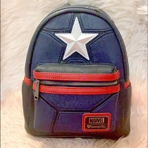 BNWT Loungefly Marvel CapTain America Backpack